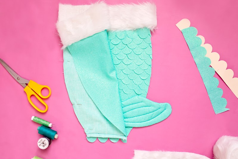 how to make a Christmas mermaid stocking tutorial