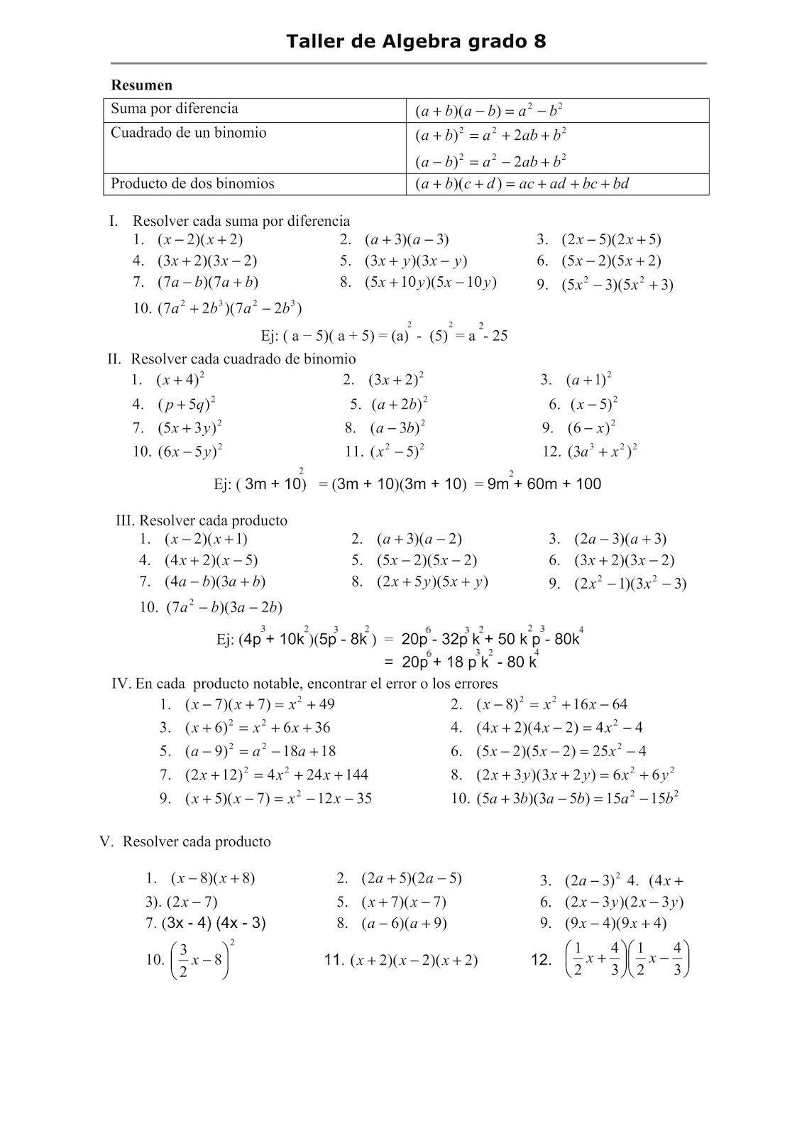Magnífico Hojas De Trabajo De Matemáticas De Grado 8 Bosquejo ...