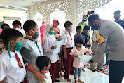 HUT Ke- 65 Lalu Lintas, Polres Aceh Selatan Lakukan Syukuran dan Santunan Anak Yatim