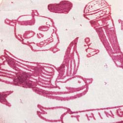 How to make and create a print on a scarf, tattoo flash design DIY
