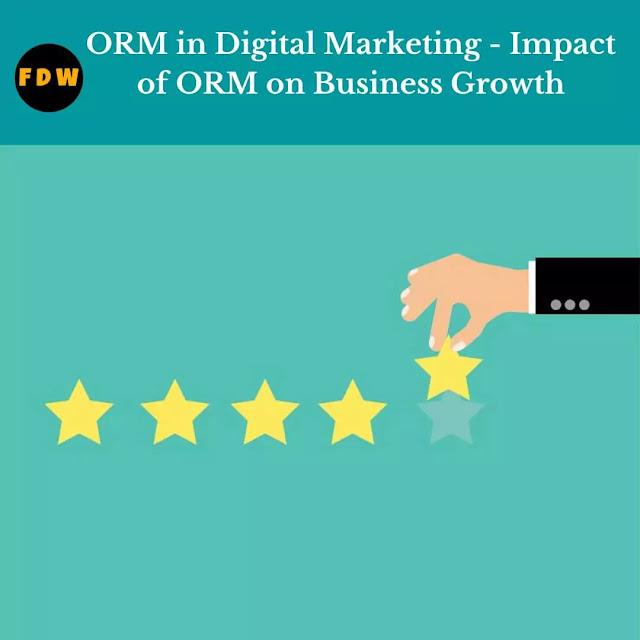 Online reputation management (ORM)