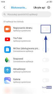 MIUI Włączanie Blokady Aplikacji