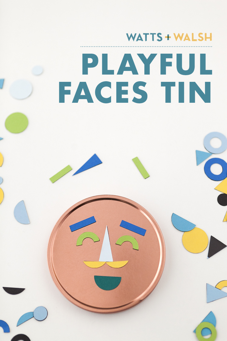 DIY make your own playful faces tin paper magnetic happy kid play