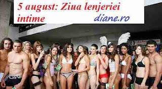 5 august: Ziua lenjeriei intime