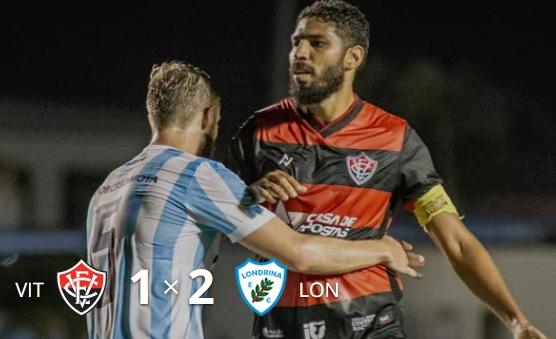 Londrina venceu o Vitória no Barradão e deixou a zona