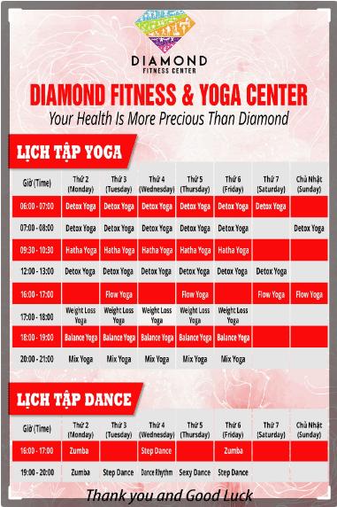 diamond fitness & yoga center thị nghè
