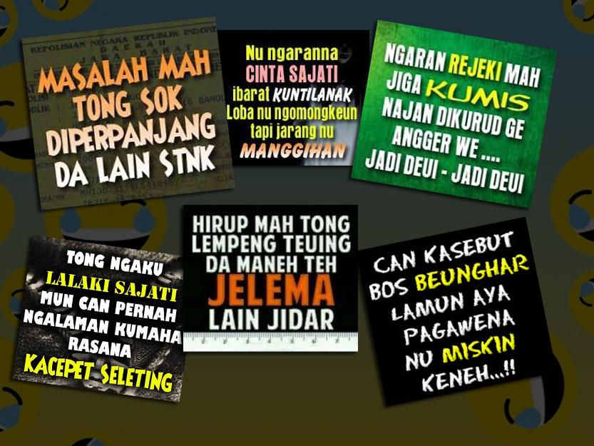Kumpulan Kata Kata Lucu Bahasa Sunda Dan Artinya Wisatabdg Com