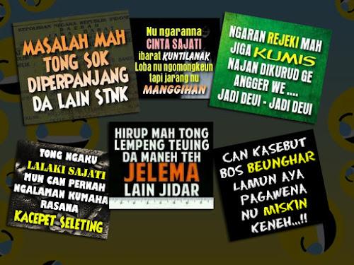 Kata-kata lucu bahasa Sunda