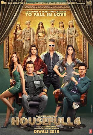 Poster Of Bollywood Movie Housefull 4 2019 300MB Pdvd Full Hindi Movie