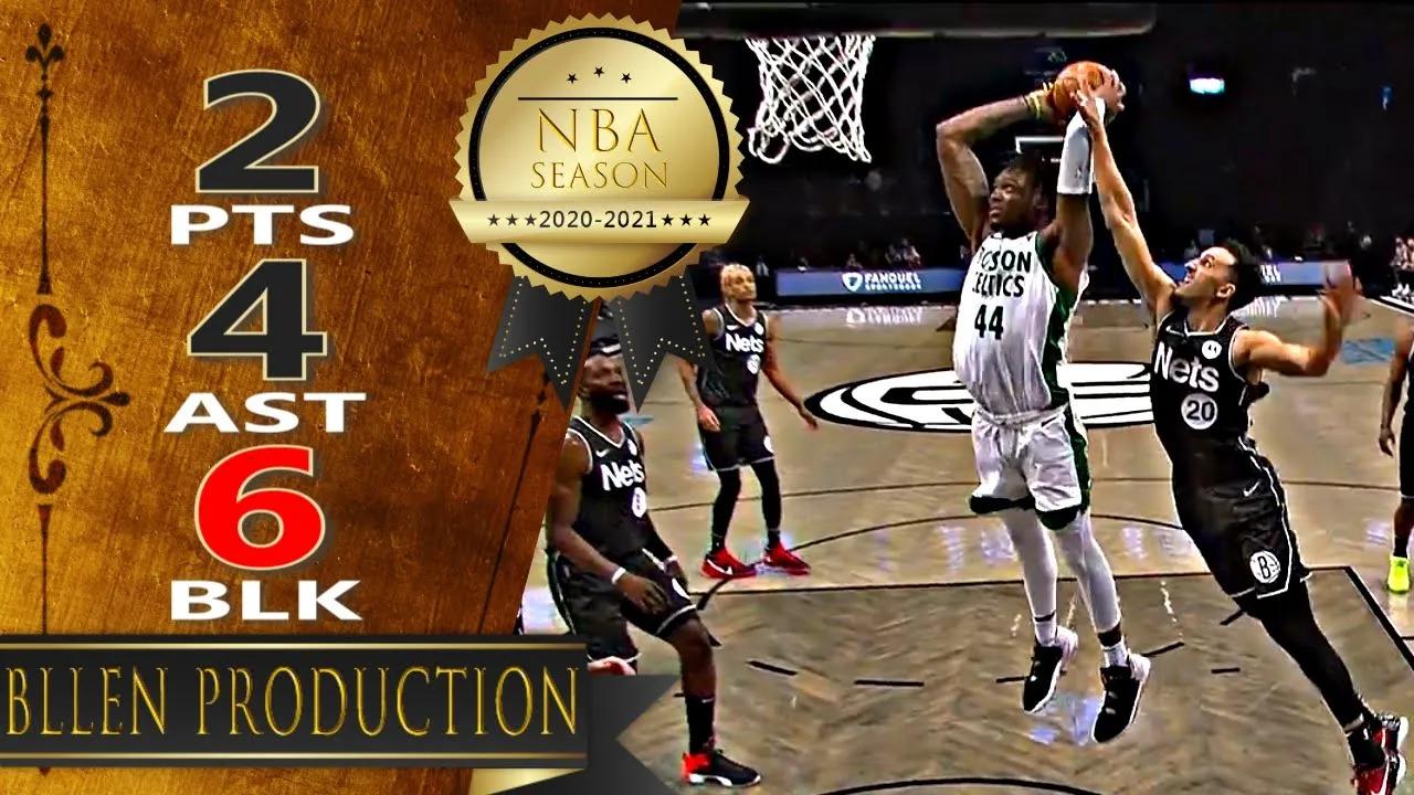 Robert Williams III 4reb 4ast 6blk vs BRK   March 11, 2021   2020-21 NBA Season