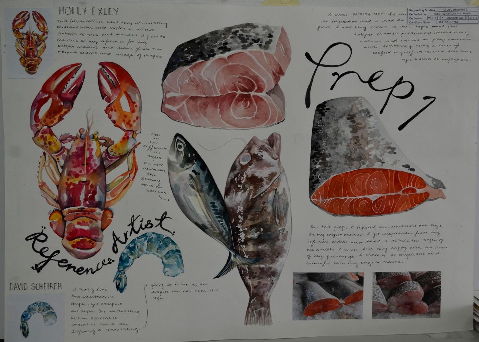 igcse paper artist overall series marks oct nov seafood cafe menu background