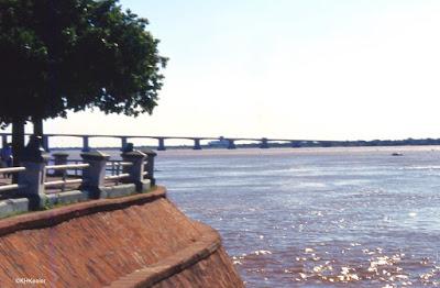 Looking across Parana River at Corrientes