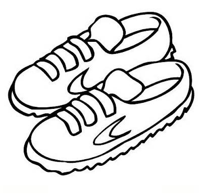 Zapatos Para Colorear Dibujo Views