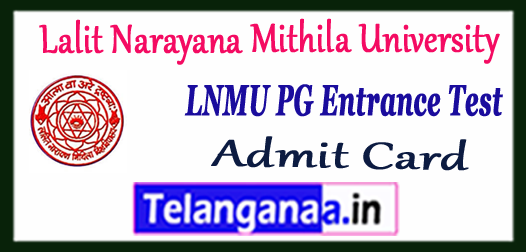 LNMU Lalit Narayana Mithila University PG Entrance Test Admit Card 2017