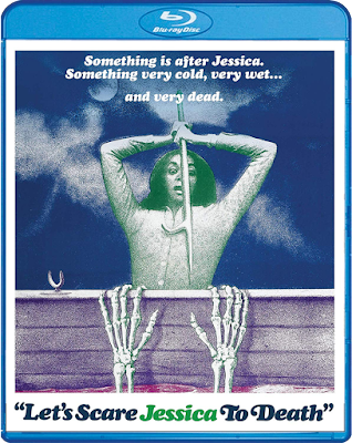 Blu-ray cover art for Scream Factory's LET'S SCARE JESSICA TO DEATH!
