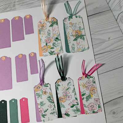 Sample Tailor Made Tags using cardstock and Hand-Penned Designer Series Paper