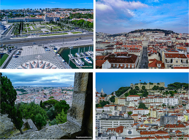 Paisagem de Lisboa vista de mirantes da cidade