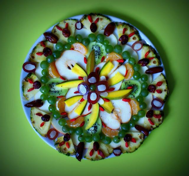 mandala,mandala owocowa,symbio,owoce,zdrowe jedzenie
