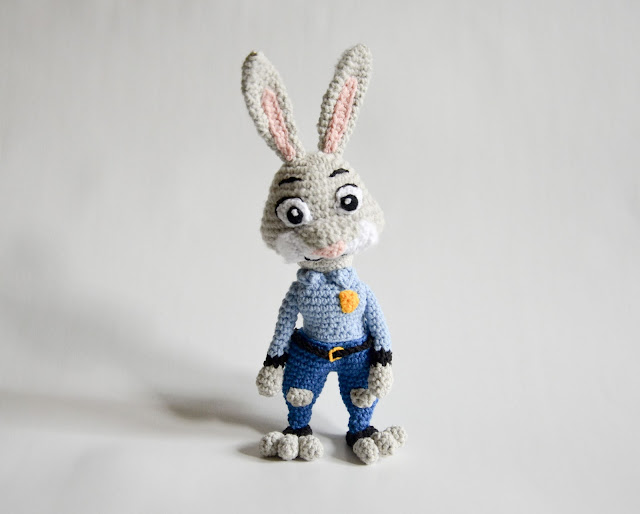Krawka: Judy Hopps bunny from Zootopia crochet pattern by Krawka