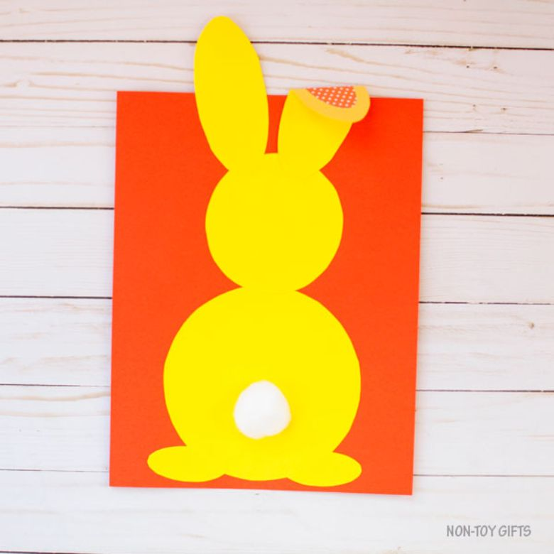 Easter crafts for preschoolers - Shape bunny craft