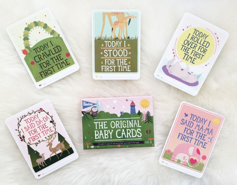 gifts for new babies, milestone cards