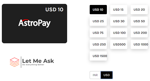 AstroPay USD prepaid Card