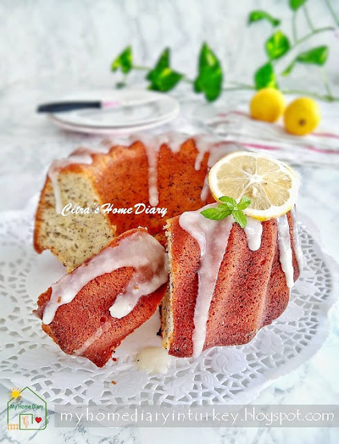 LEMON POPPY SEED YOGURT CAKE | Çitra's Home Diary