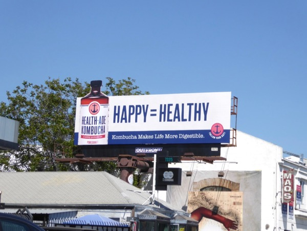 Kombucha Happy Healthy billboard