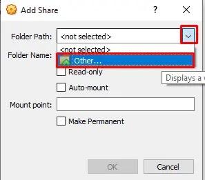 Add Share Folder