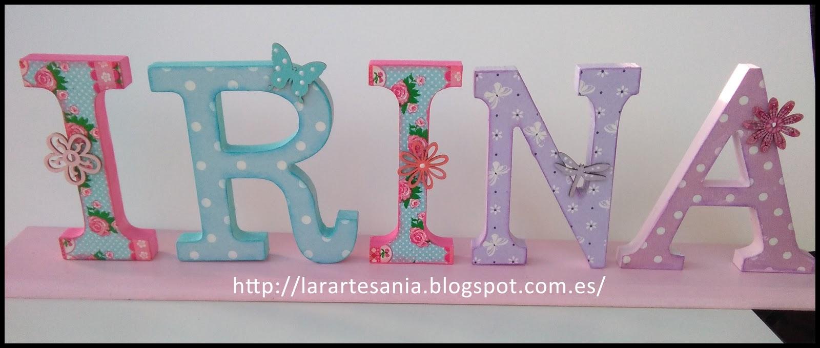 Lara artes decorando letras con decoupage - Letras para adornar ...