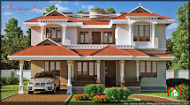 Traditional Kerala House Elevation - Architecture