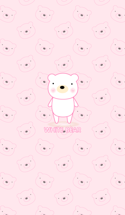 Simple cute white bear theme v.1