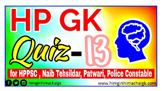 Himachal GK Quiz Series for HAS HPPSC