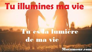 photo Tu illumines ma vie - tu es la lumière de ma vie