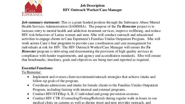 Case Management (USA Health System) - Job Description Of A Case