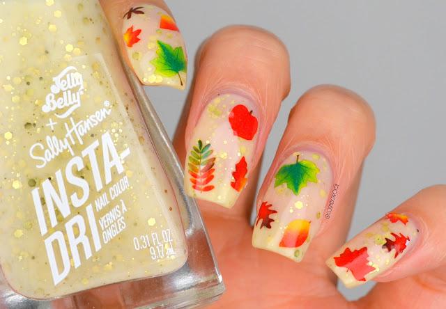 Fall Leaf Nail Art