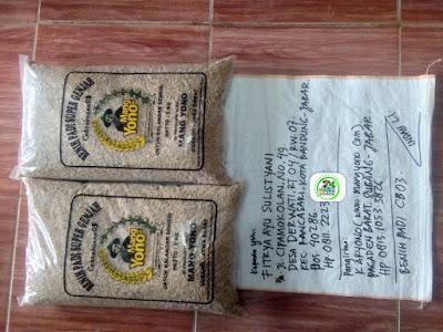 Benih Padi yang dibeli    FITRYA AS Bandung, Jabar.    (Sebelum packing karung).