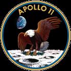 Aquila con ramoscello d'ulivo atterra sulla luna con sullo sfondo la Terra