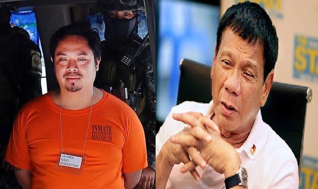 Pres. Rody to Jaybee Sebastian: I do not talk to criminals
