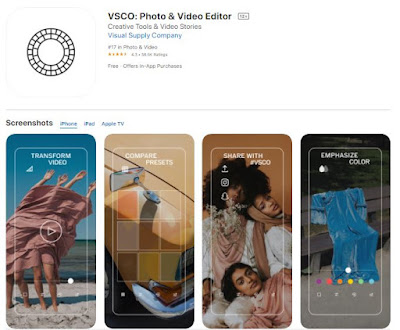 Screenshot of VSCO App
