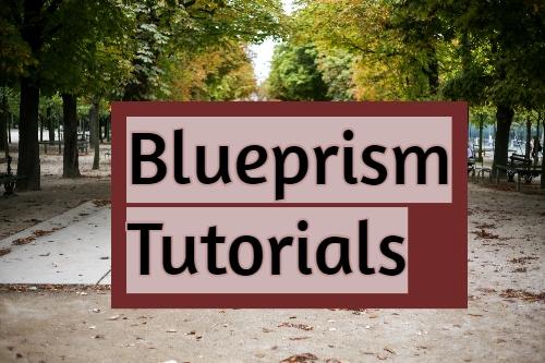 Blue Prism complete tutorials download now