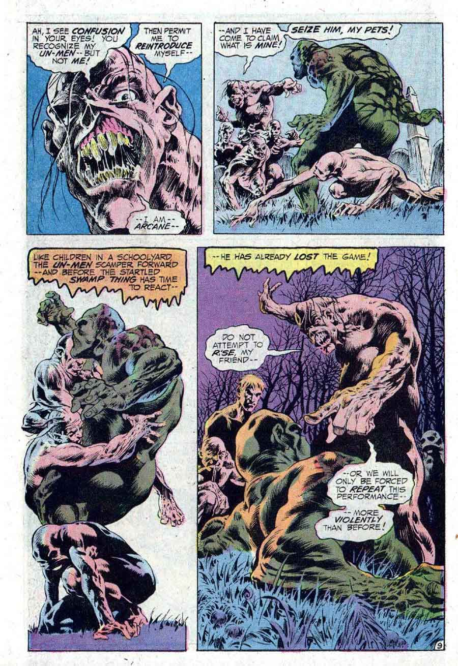 Swamp Thing #10 1970s bronze age dc horror comic book page art by Bernie Wrightson