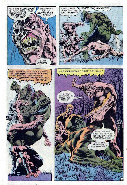 Swamp Thing v1 #10 1970s bronze age dc comic book page art by Bernie Wrightson