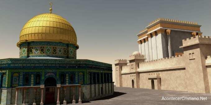 Tercer Templo junto al Domo de la Roca en el Monte del Templo