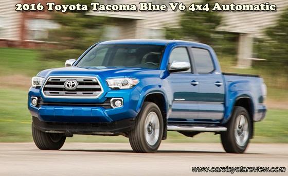 2016 Toyota Tacoma Blue V6 4x4 Automatic