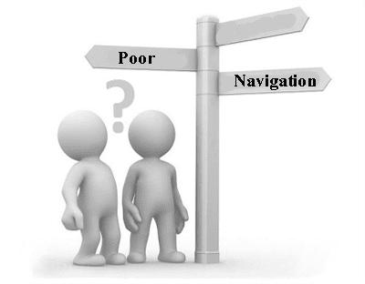 Poor navigation