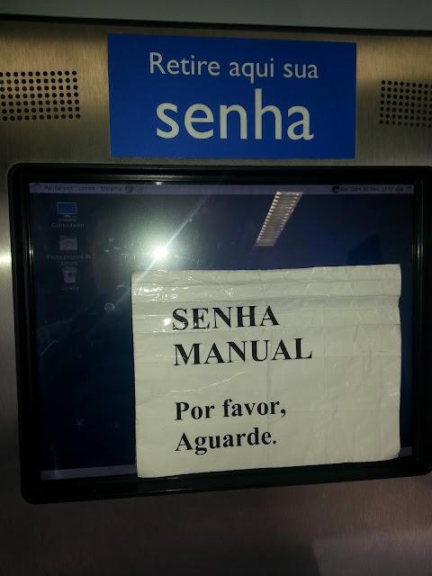 Terminais da caixa com Debian