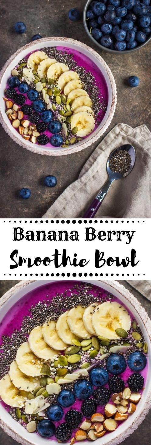 Banana Berry Smoothie Bowl #smoothie #banana #diet #recipes #paleo