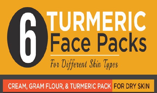 6 Turmeric Face Packs For Different Skin Types #infographic