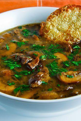Roast Mushroom Soup
